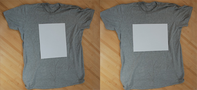 T-Shirt Size Sample