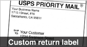 personalized return labels