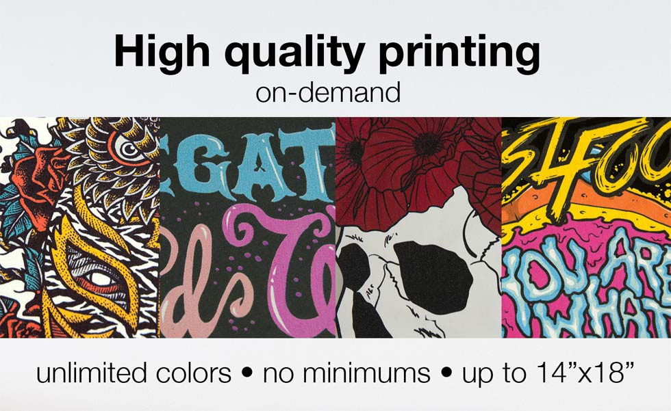 Direct to garment t shirt fulfillment print on demand for On demand t shirt printing