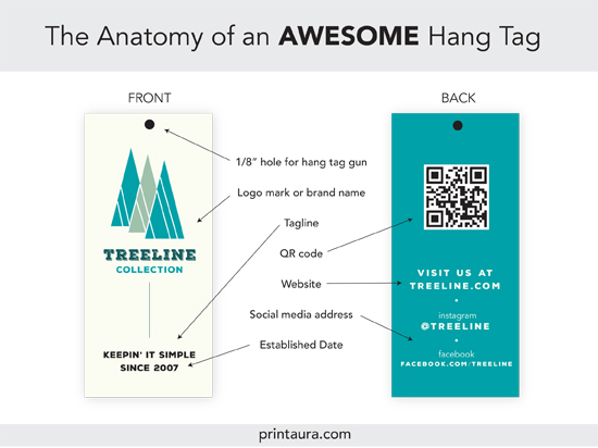 Anatomy Of An Awesome Clothing Hang Tag (+ Templates!) | Print