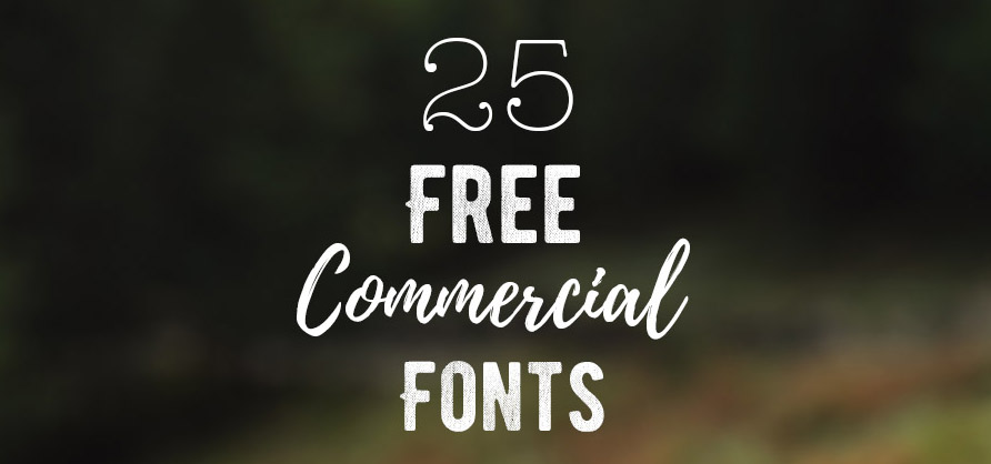 25 free commercial fonts