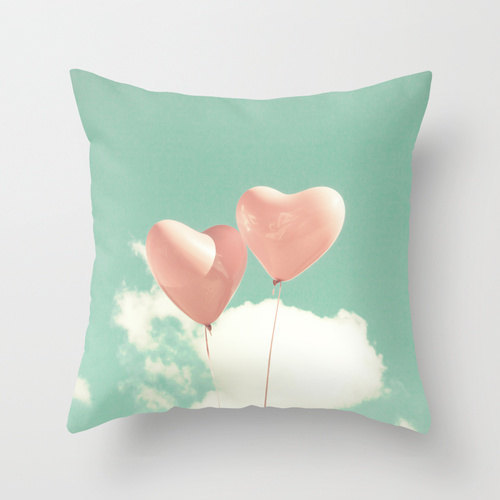 balloon hearts pillow