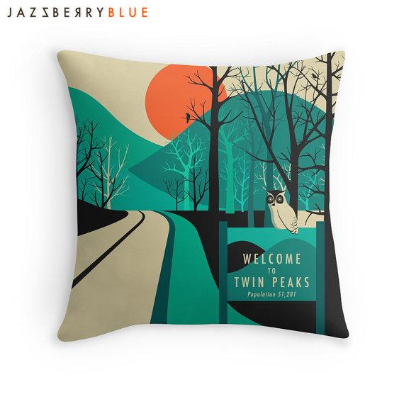 twin peaks pillow