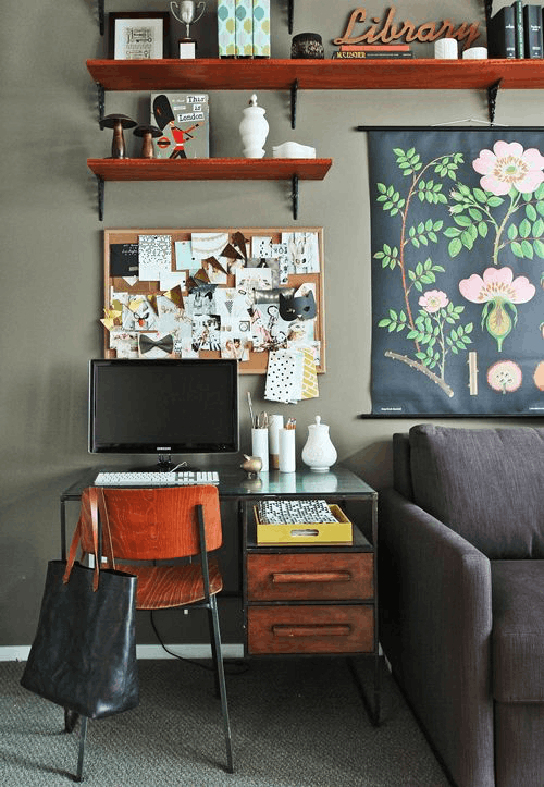 Creative Home Office 12 creative home office ideas for small spaces | print aura - dtg