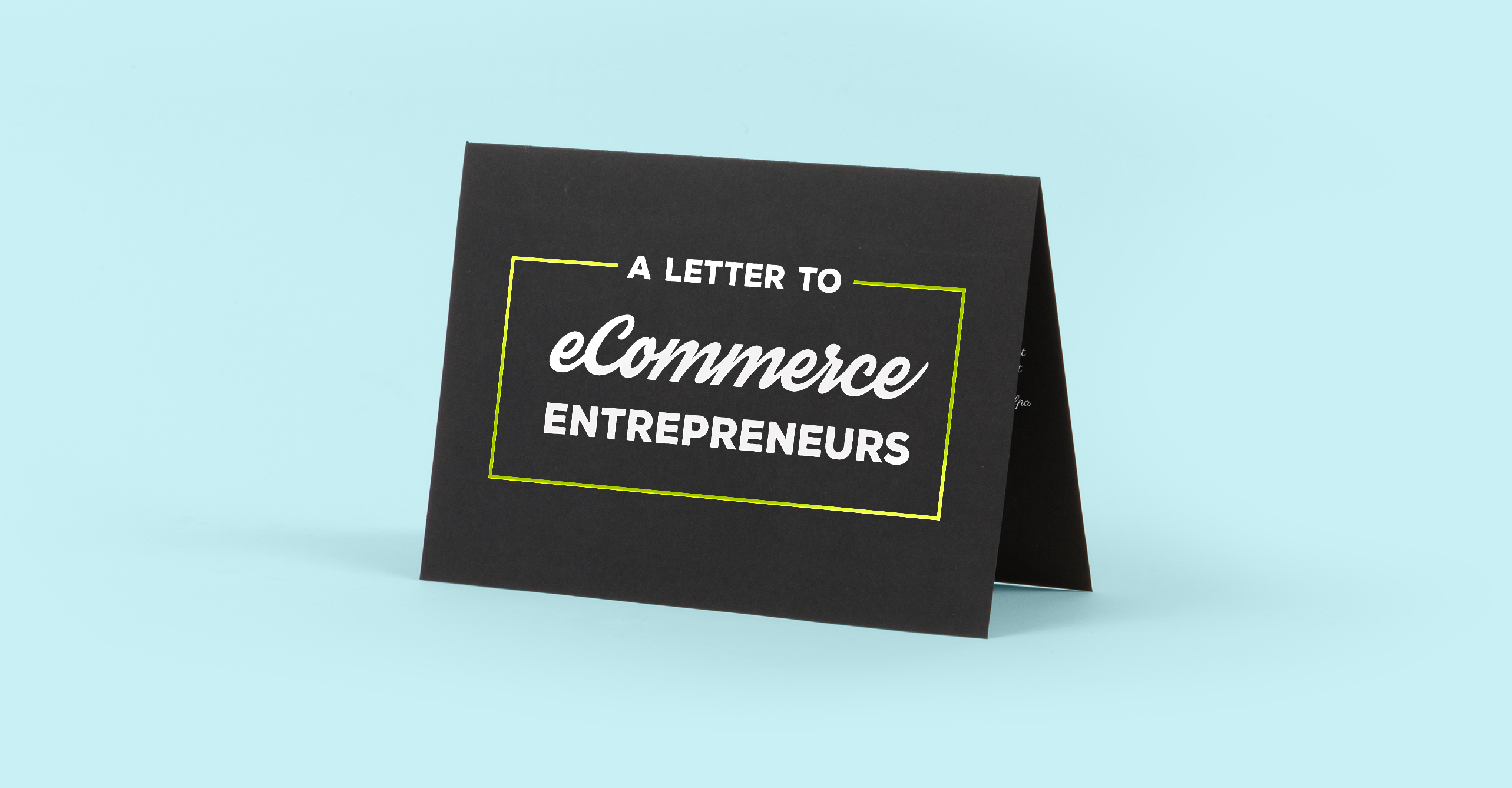letter to entrepreneurs