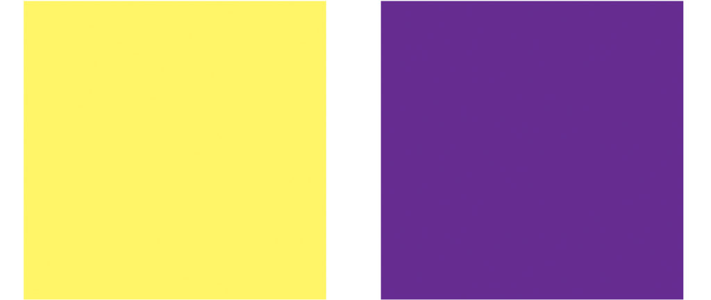yellow purple