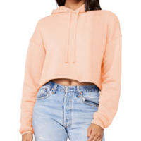 T-Shirt Fulfillment for the Bella Canvas B7502 Ladies' Cropped Fleece Hoodie at Print Aura